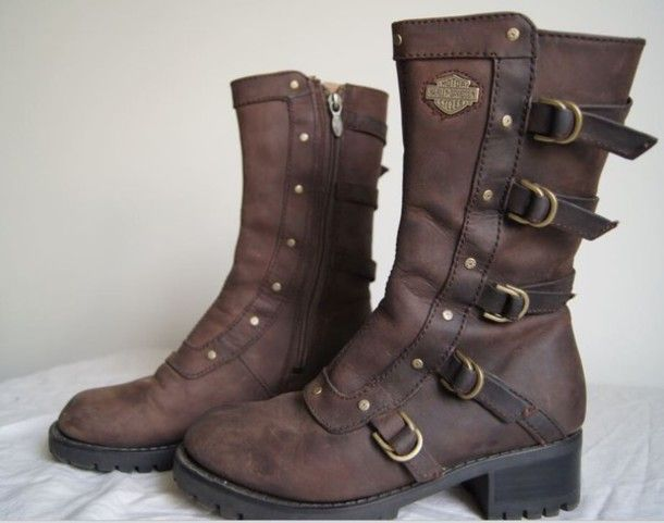 6ff5117199fe Harley davidson brown leather boots