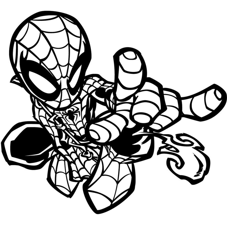 little spider woman superhero printable coloring pages for kids