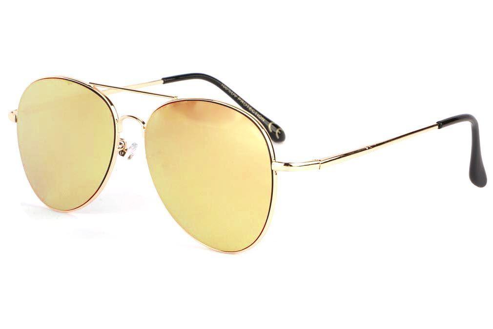 Lunette de soleil miroir rose Morz, lunette