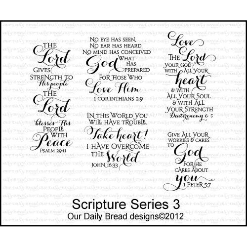 Scripture Series 3 - Cling Rubber Stamps Our Daily Bread Designs http://www.amazon.com/dp/B00B6QKFZC/ref=cm_sw_r_pi_dp_lX2-vb1EH885M