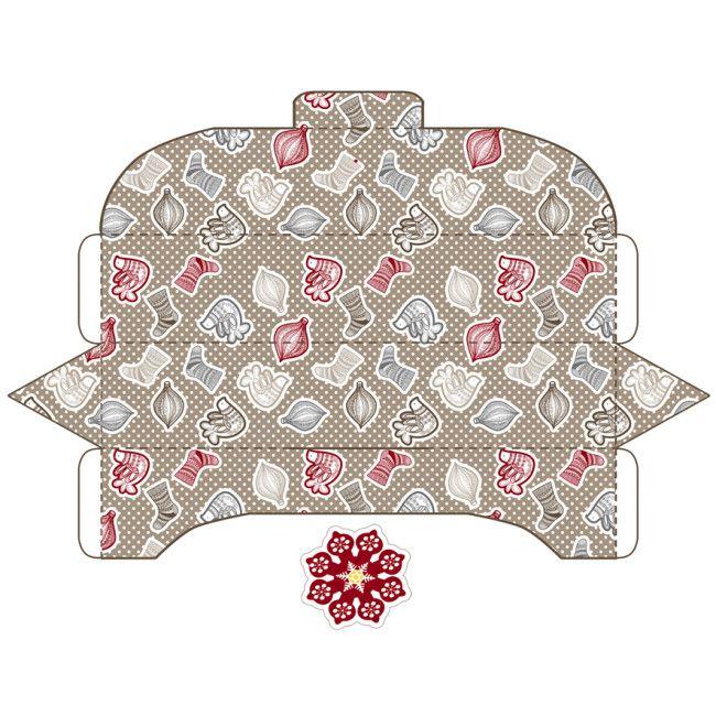 gratuit boite cadeau imprimer boites et enveloppes pinterest no l et articles. Black Bedroom Furniture Sets. Home Design Ideas