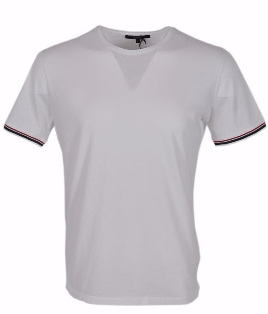 7d52d26ef77 New Gucci Men s 357244 White Jersey Cotton Red Green Web SLIM FIT T Shirt