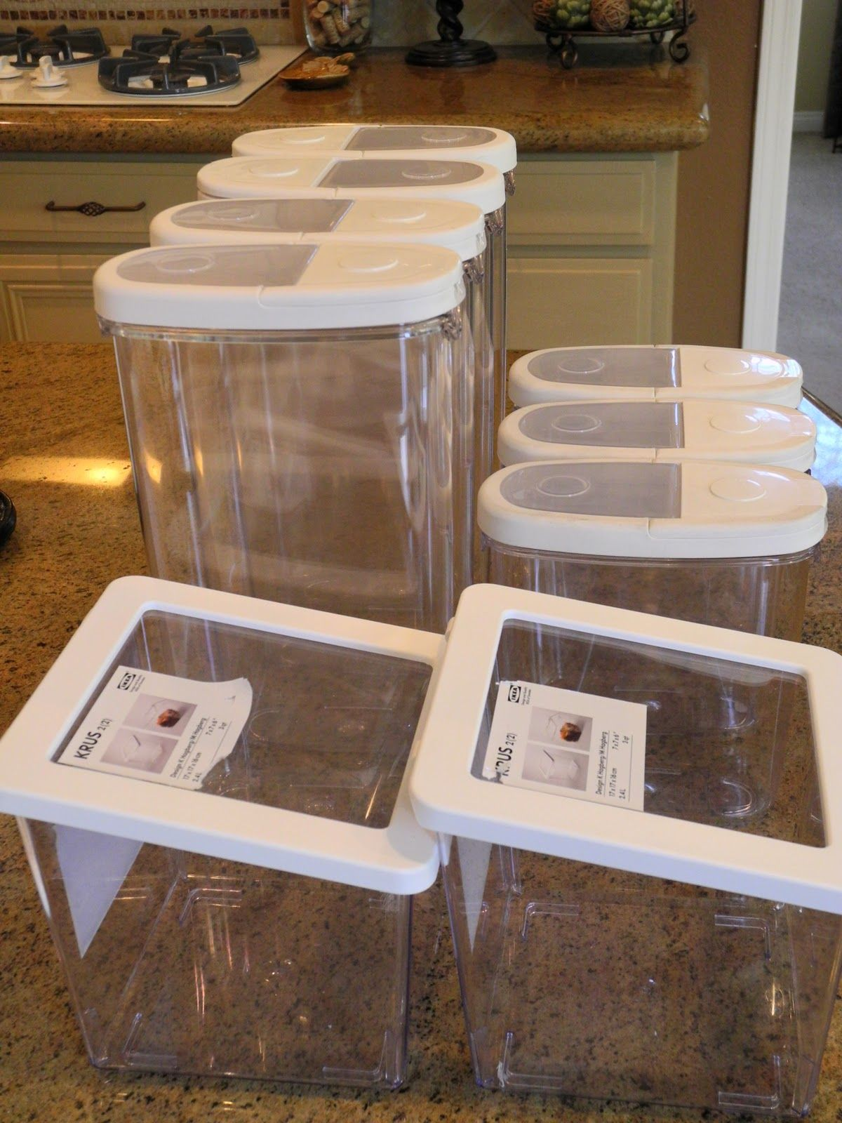 Kitchen Containers Storage Ideas For Small Spaces Bins Organizing Pantry Bpa Free Ikea
