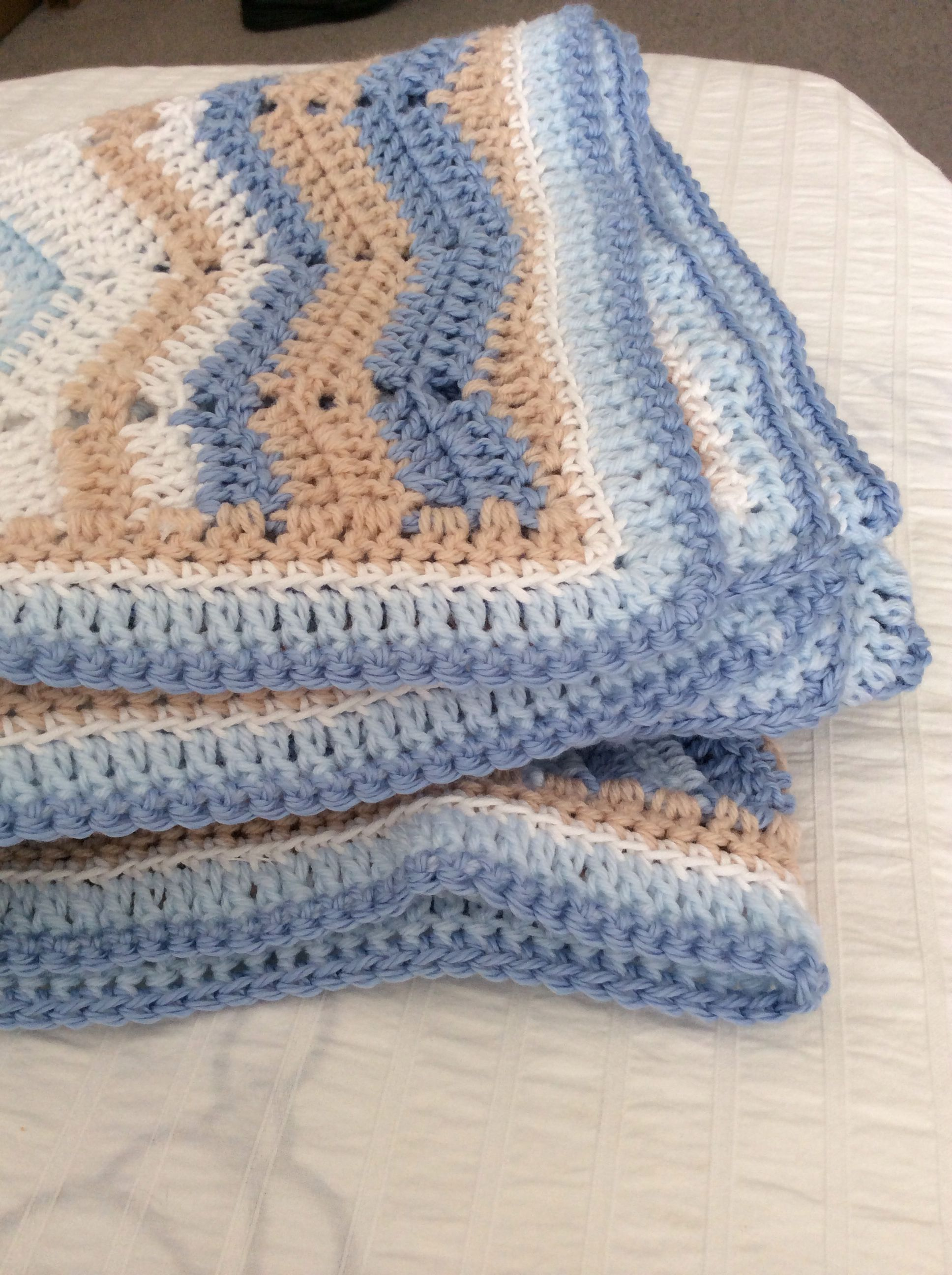 Sandy Beach Baby Blanket Crochet