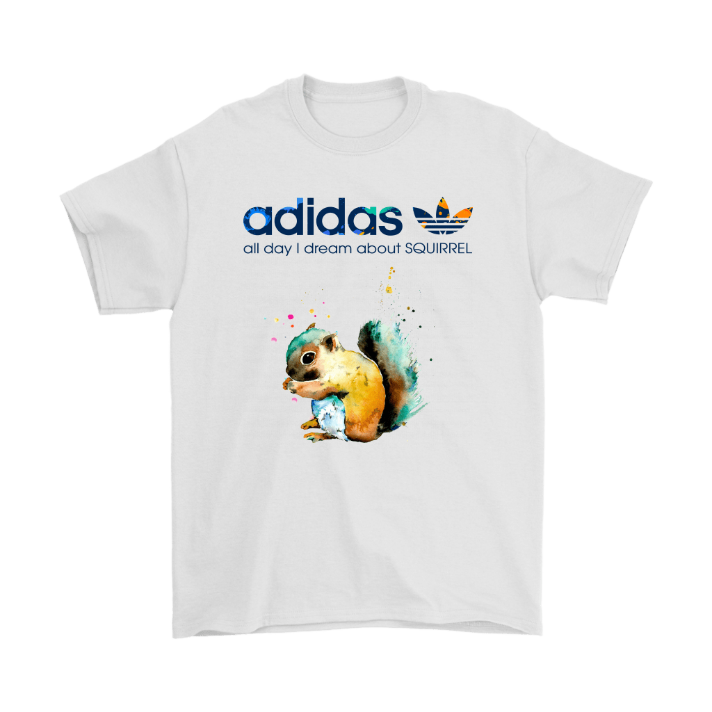 """Water Color Adidas All Day I Dream About Squirrel Shirts Water Color Adidas All Day I Dream About Squirrel Shirts - Snoopy Facts   Get this""""Water Color Adidas All Day I Dream About Squirrel Shirts""""Unique design for any special occasions like Christmas, Valentine's day, St. Patrick's day, Mother's day, Father's Day, Birthday. It has all sizes for you, and a wide range of color for you to choose from. This shirt will be the perfect gift for somebody special, family. Or an excellent shirt for you to have yours"""