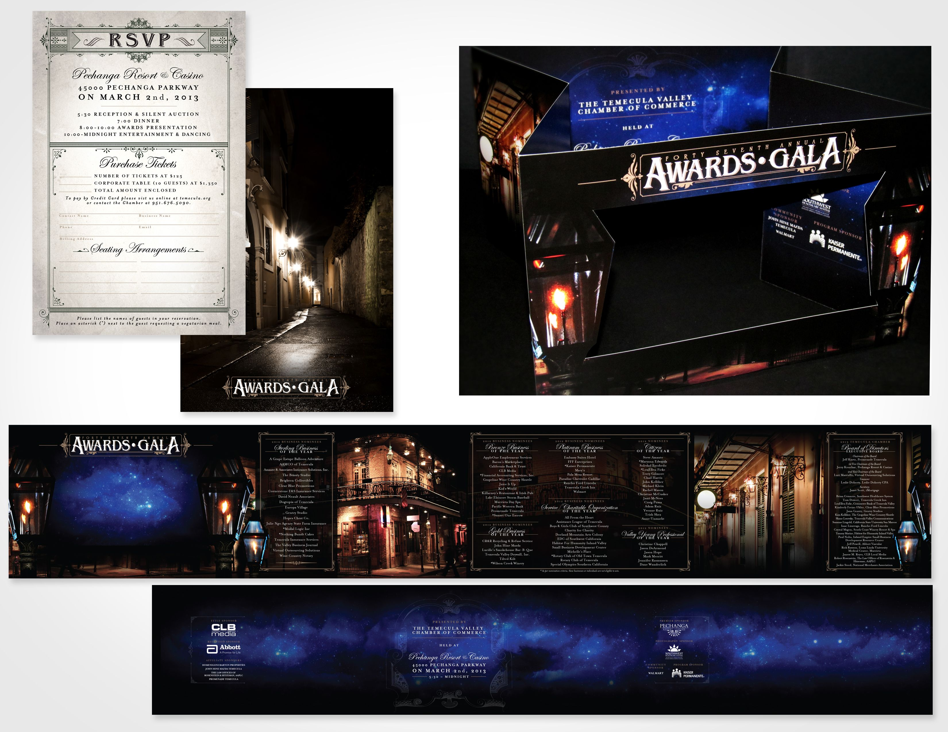 Temecula Chamber Awards Gala Invitation Shadow Box New Orleans