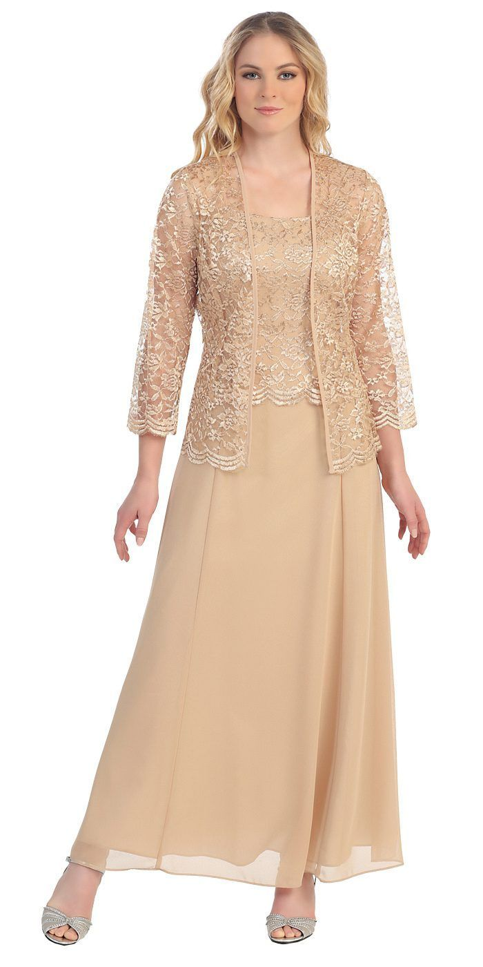 Long chiffon silver mother of groom dress lace length sleeve