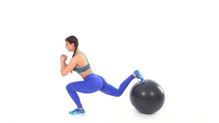 6 Swiss Ball Moves to Make Your Butt Round AF: Fitness…
