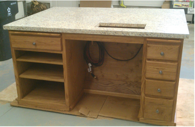 sewing tables from kitchen cabinets sewing room ideas