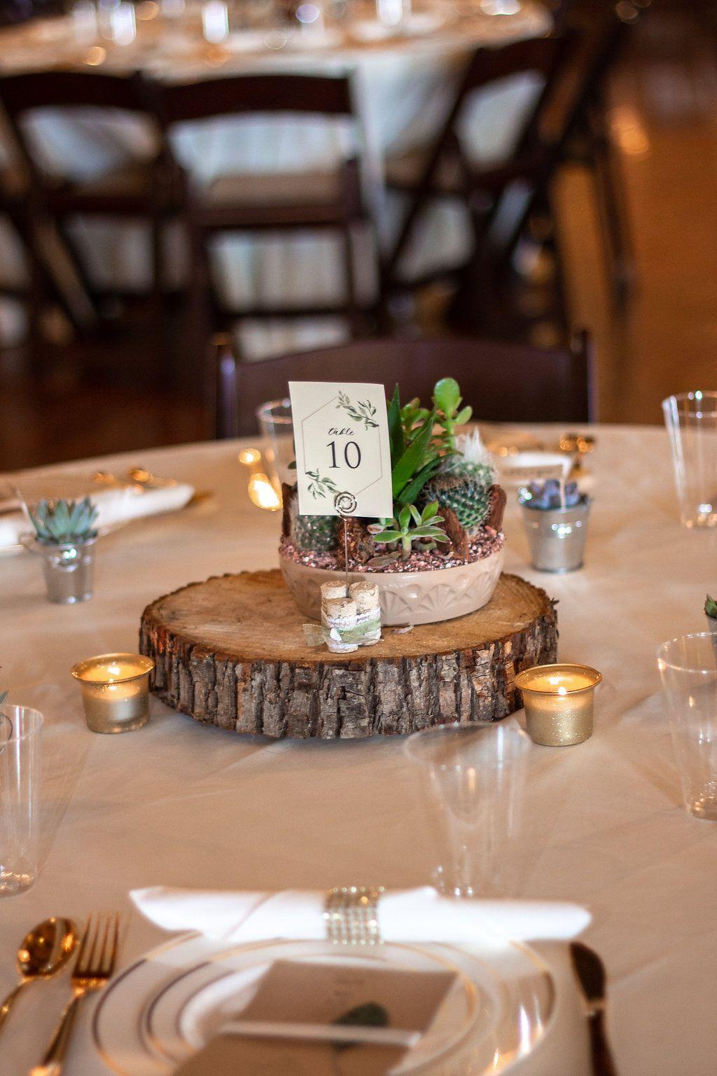 Natural Wedding Centerpiece Succulent Wedding Centerpiece