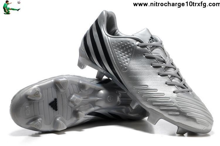 Punto muerto Insatisfactorio Detallado  2013 New Adidas Predator LZ TRX FG - Bright Silvery-Grey-Black Soccer Boots  On Sale