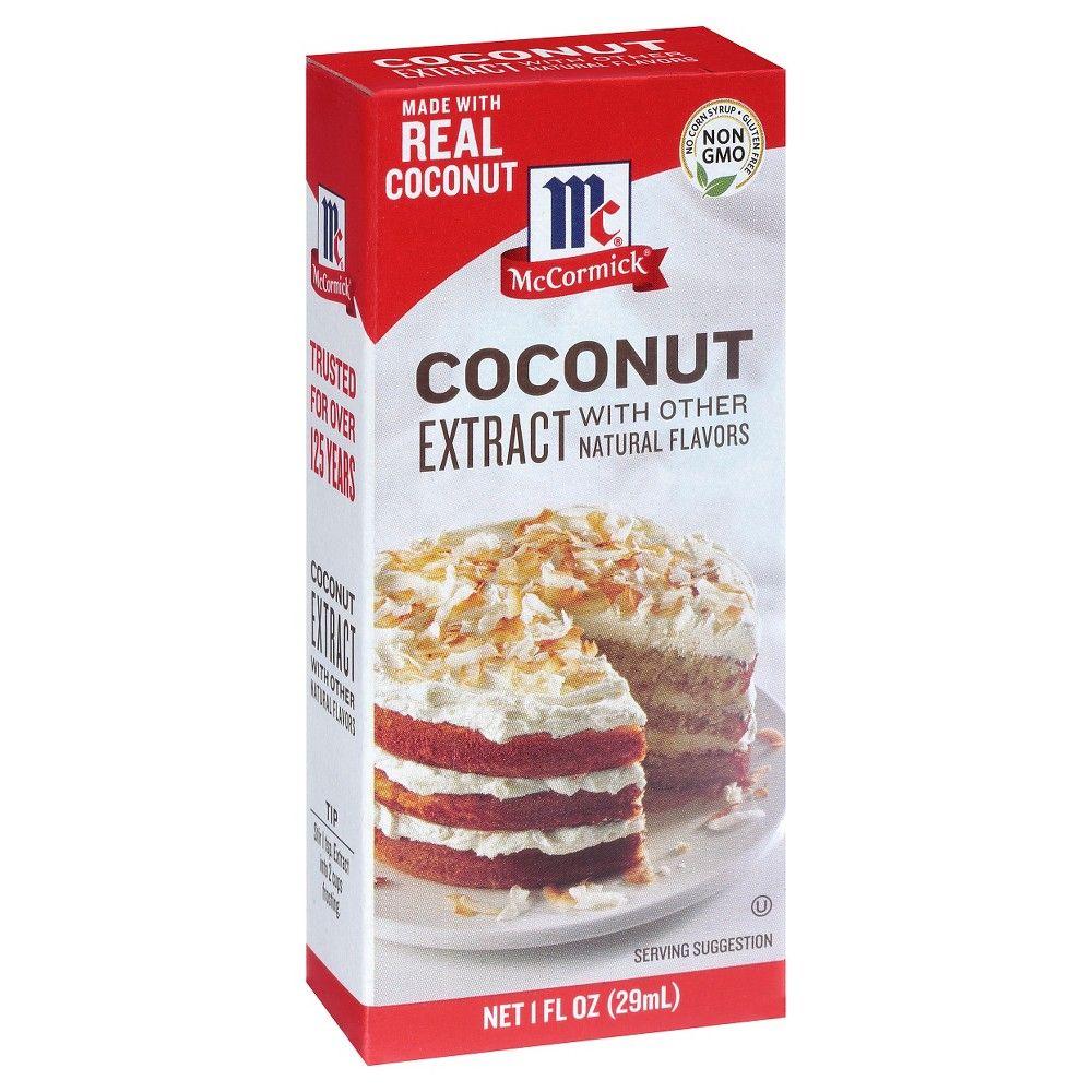 McCormick Imitation Coconut Extract 1oz Macaroon
