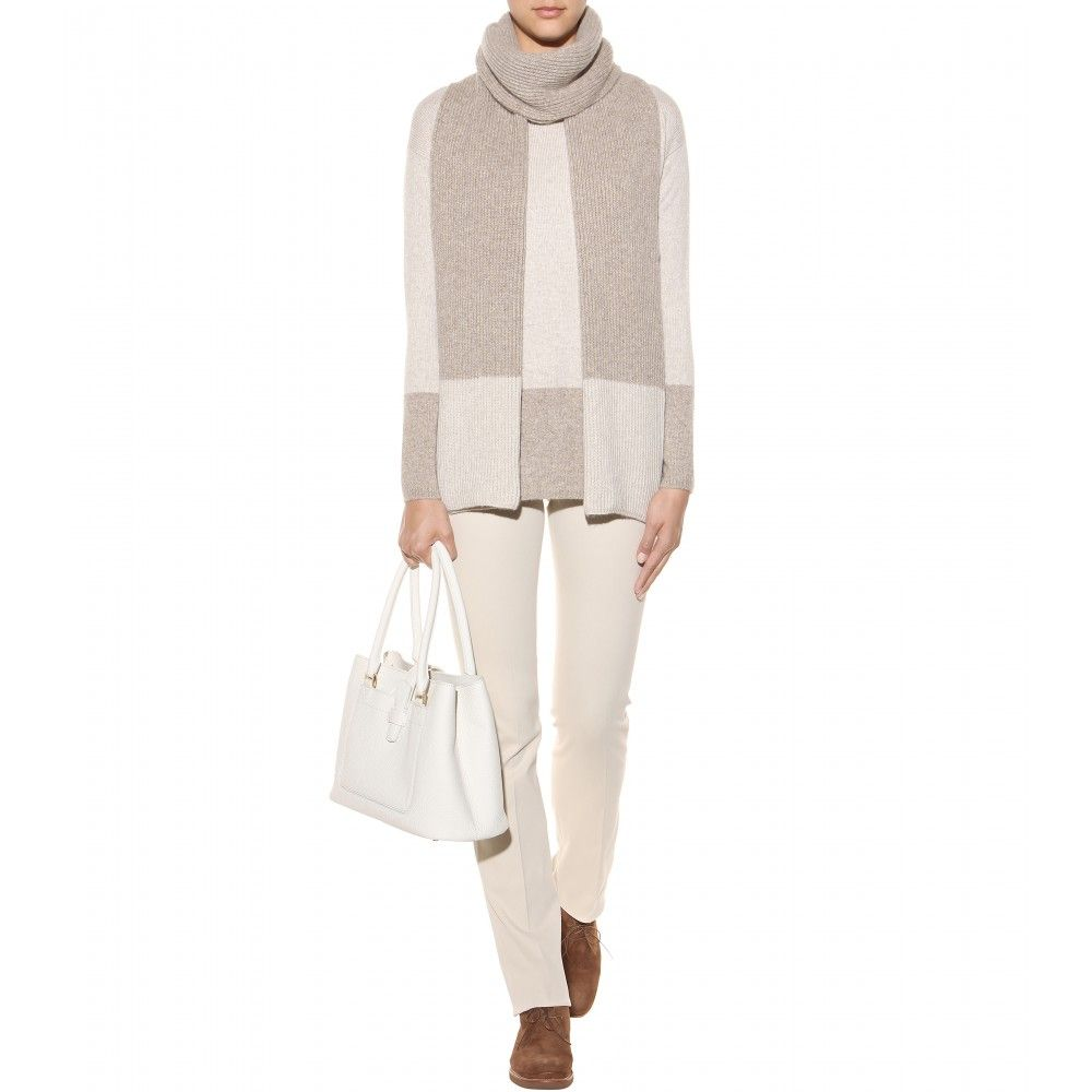 mytheresa.com - Dusseldorf cashmere sweater with scarf - Sweaters ...