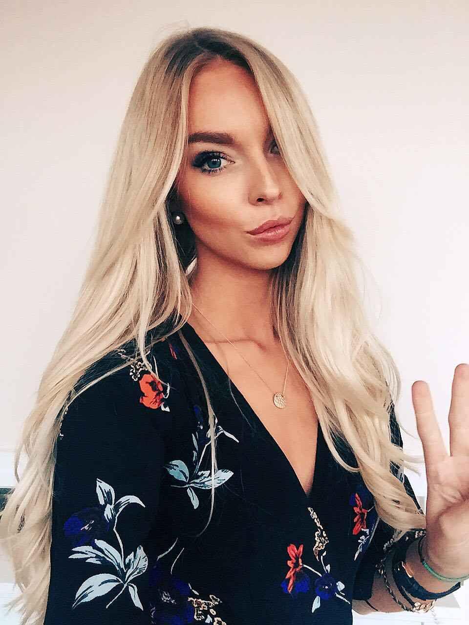 IG: @marita_knappen   #blonde #hair #natural #scandinavian #scandi #floral #wrap #dress #street #style #nobodyschild @nobodyschild