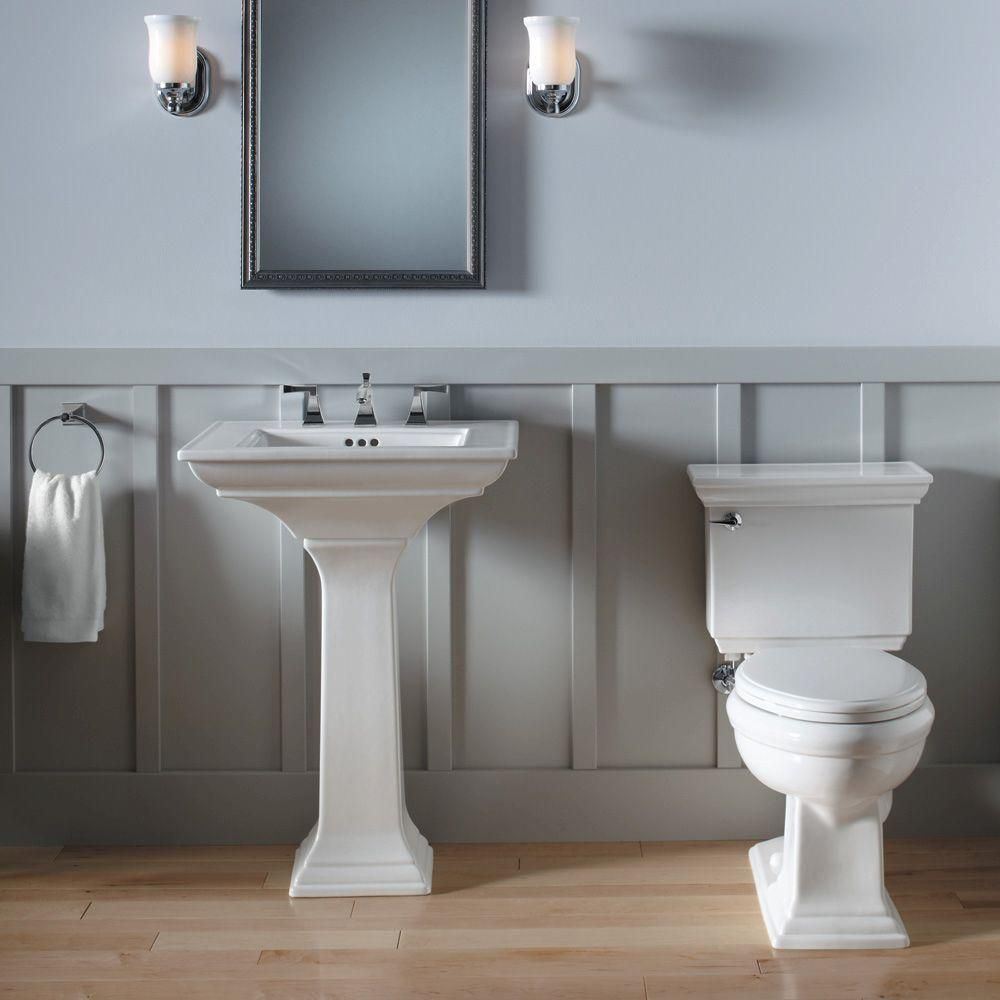 Kohler Memoirs Pedestal Combo Bathroom Sink In White K 2344 8 0 At The Home Depot