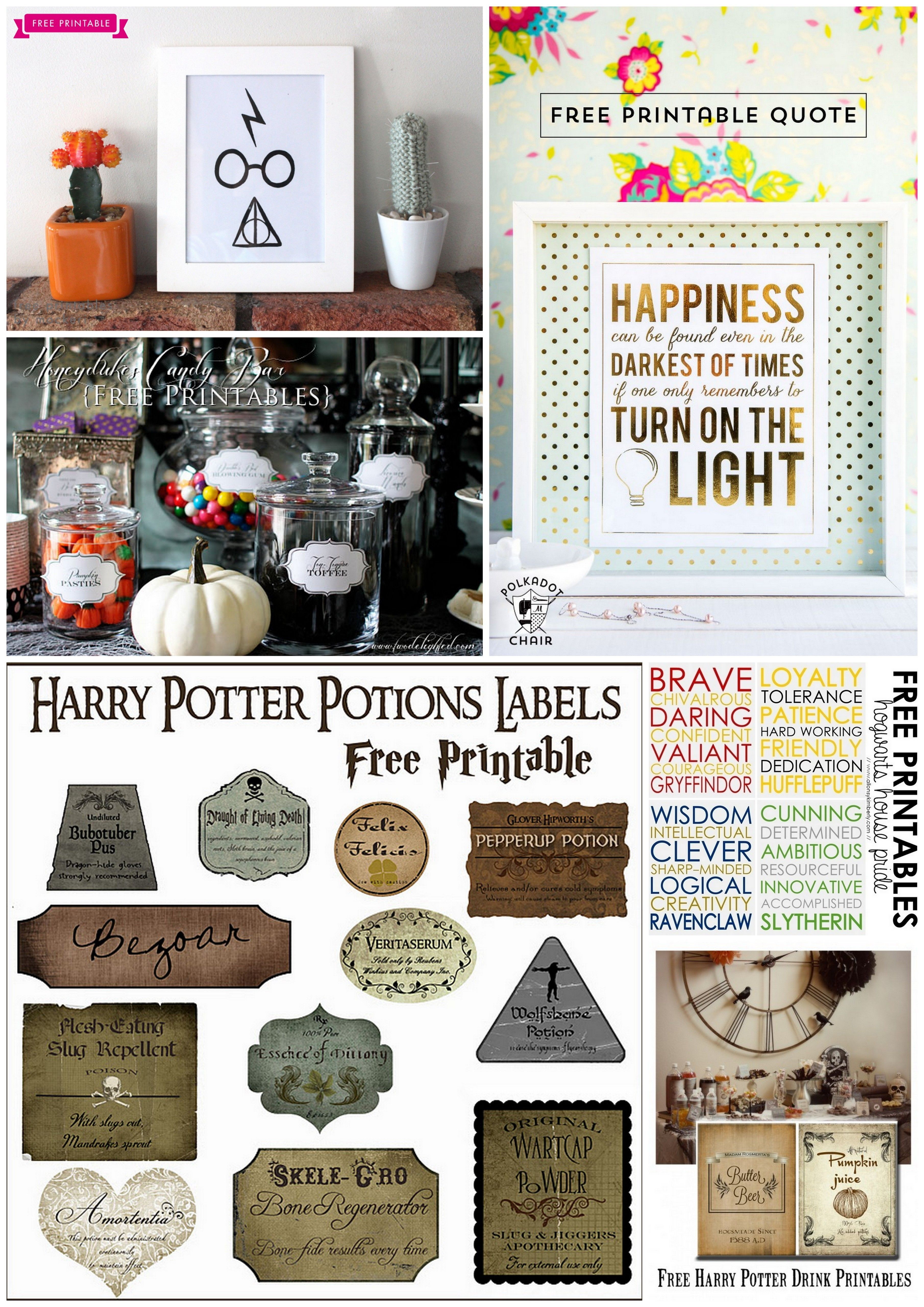 6 Free Harry Potter Themed Printables