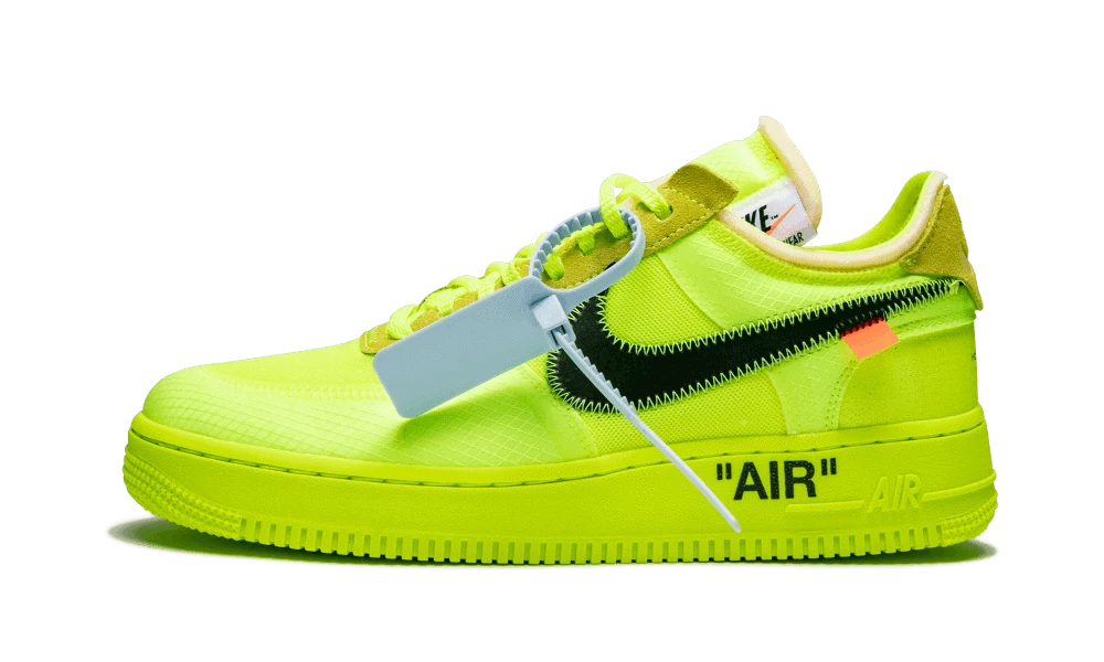 Air Force 1 Low Off White Volt | Nike air force, Chaussure