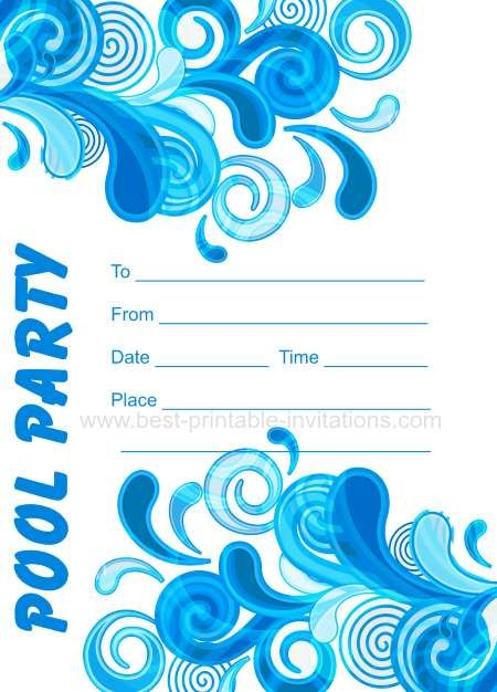 Adult Pool Party Invitations  Free Printable Invites From WwwBest