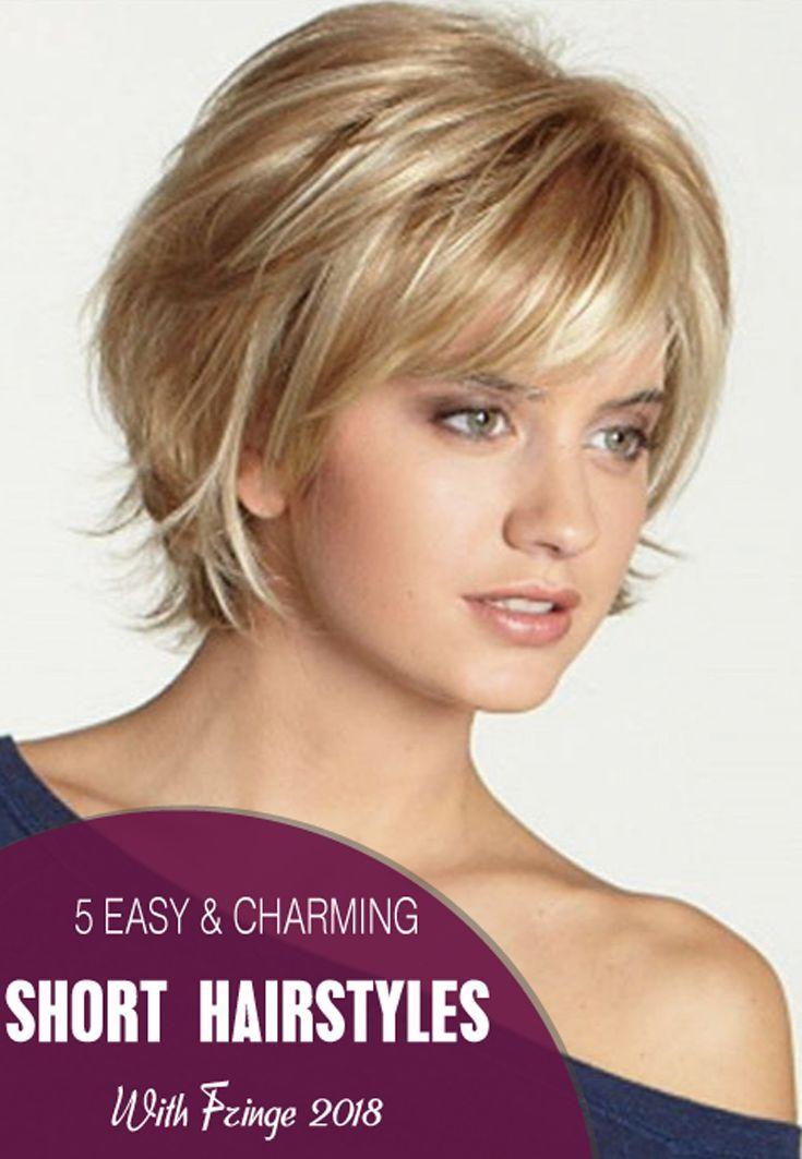 Nowadays Many Women Prefer Short Hair With Fringe For Their Regular Activities Or Travelling Or Other Occa Frisuren Mit Fransen Frisuren Schone Kurze Frisuren