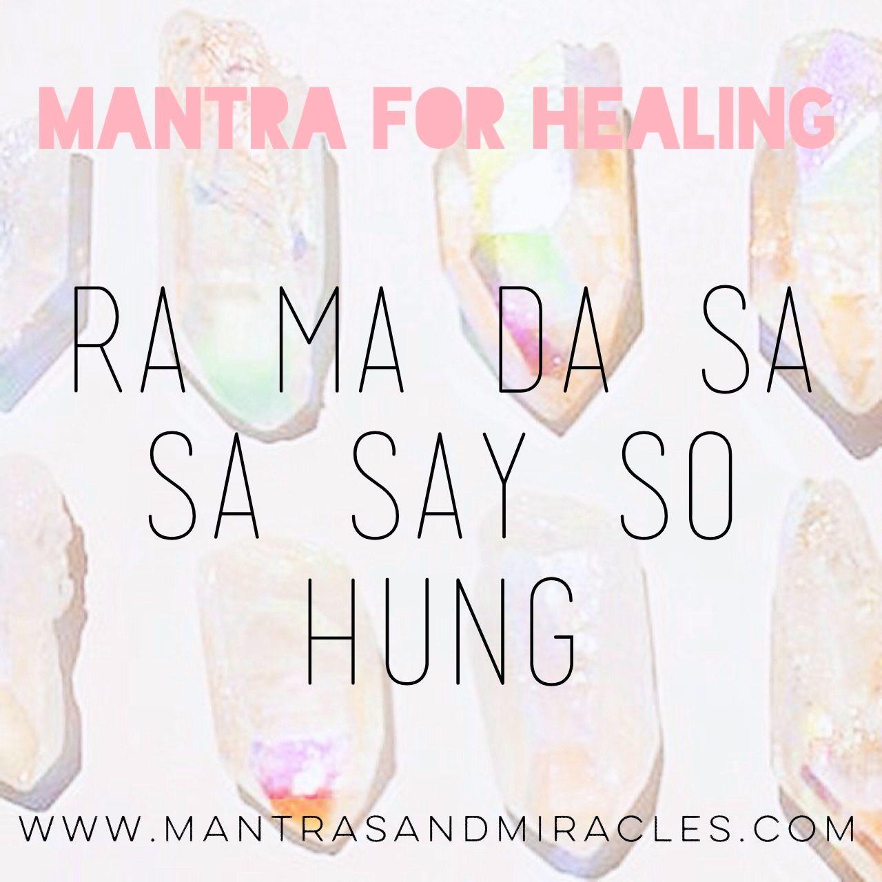 Yoga Matras: Ra Ma Da Sa Sa Say So Hung: Mantra For Healing