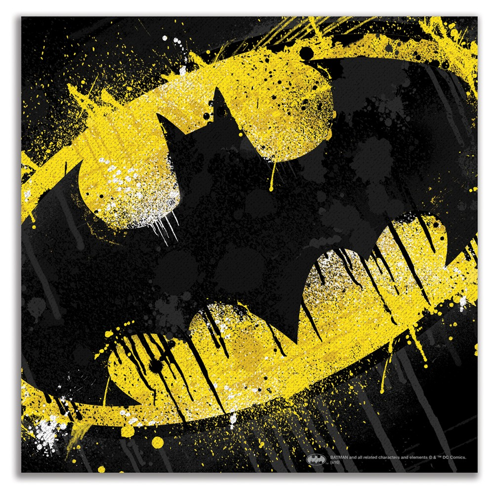 DC Comics Batman Splatter 12x12 Wall Décor, Multi-Colored ...