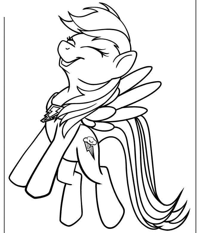 Laughing Rainbow Dash Mlp Coloring Pages Poni