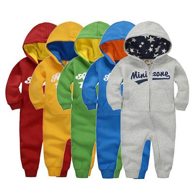 Fashionable Autumn Winter Baby Cotton Rompers Long Sleeve Boys Girls JumpsuitsLO