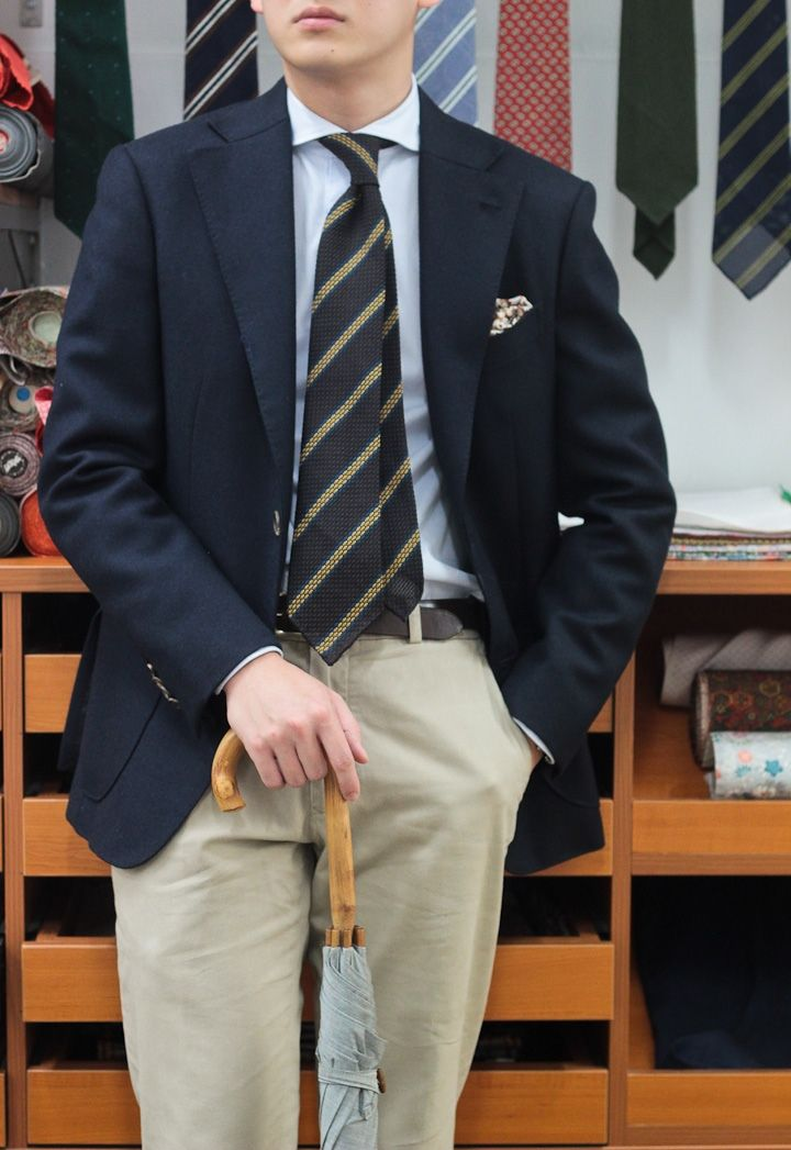ec42e773dcf8 Grenadine tie from Vanda Fine Clothing. Nice jacket too. Well done ...