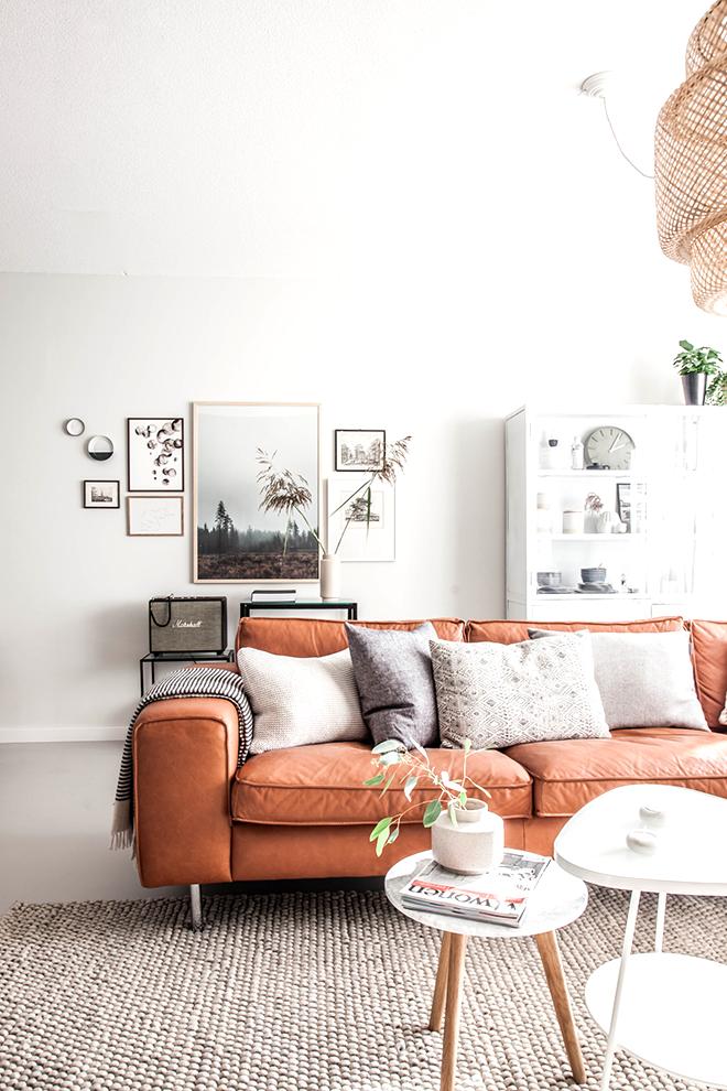 Home Décor Orange Living Room Furniture Burnt Decor