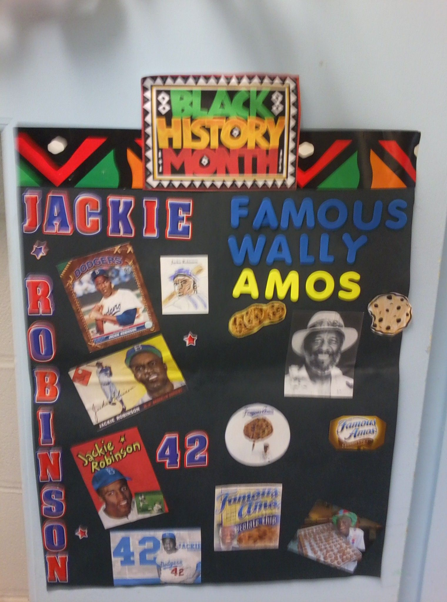 Honoring Jackie Robinson & Famous Wally Amos. Baseball & Cookies!