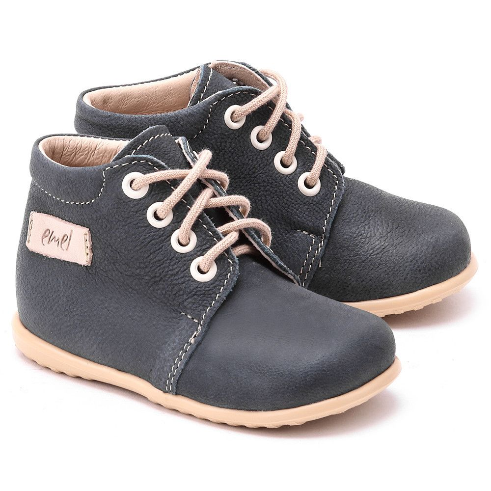 Emel Roczki Granatowe Skorzane Trzewiki Dzieciece E2343 1 E2343 1 Buty Dzieci Trzewiki I Polbuty Mivo Sperry Sneaker Shoes Sneakers