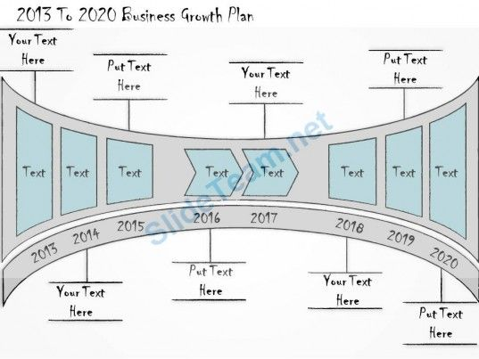 2013 To 2020 Calendar 1013 Business Ppt Diagram 2013 To 2020 Business Growth Plan