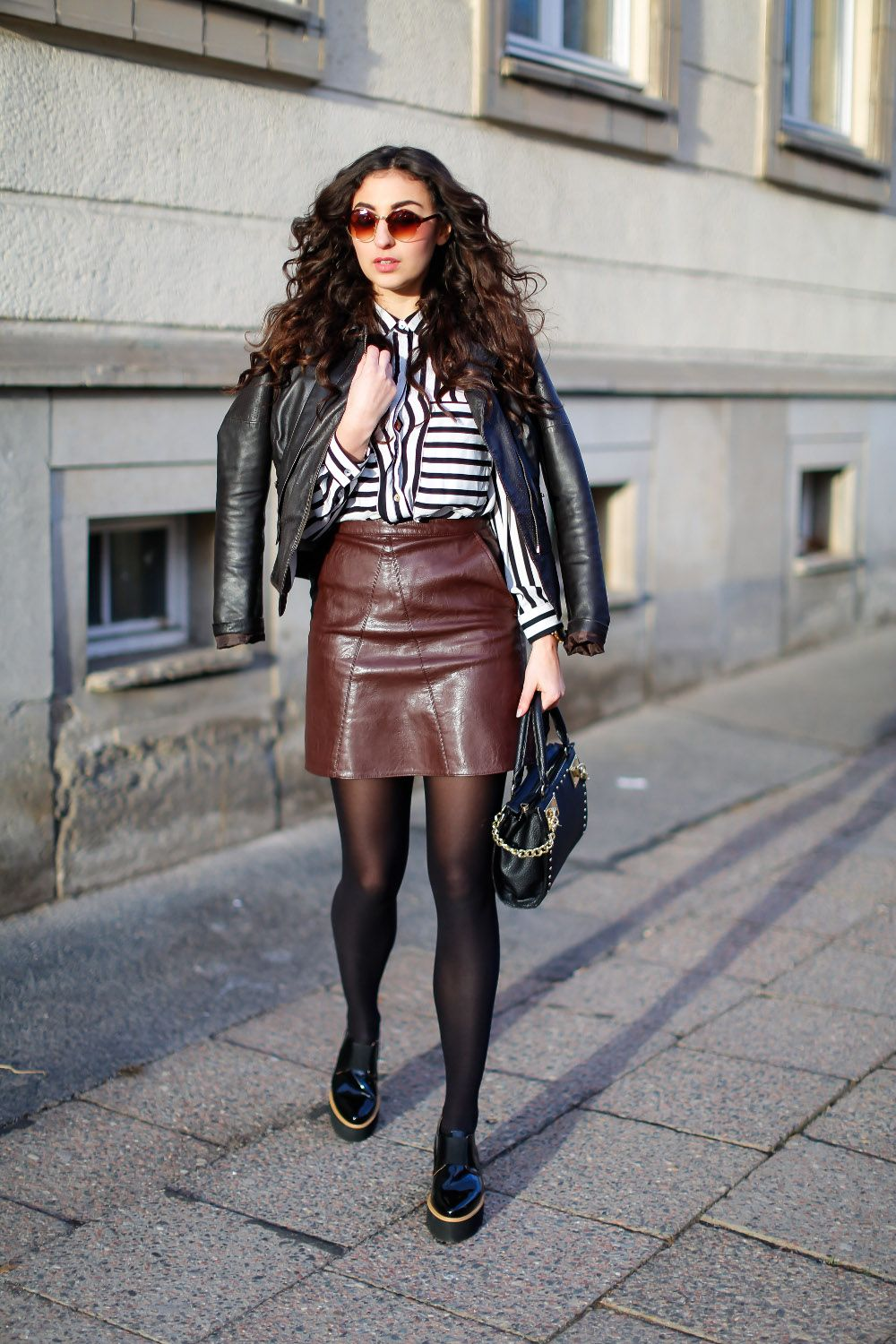 Preppy Outfit with Platform Loafers Fashion Blog Berlin