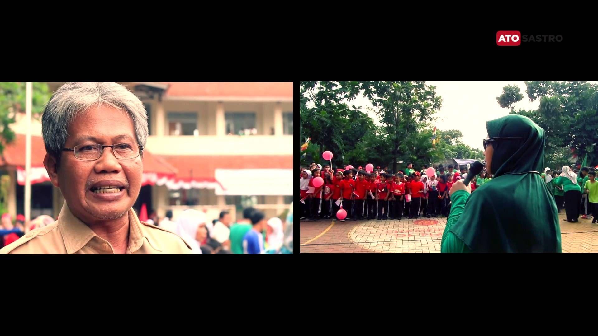 Memaknai Hari Kemerdekaan bersama Bapak Narsum kepala SDN Pondok Kacang Barat 03