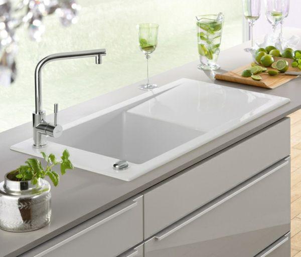 weiße elegante Spüle-edelstahl Küchentheke | kitchen | Pinterest ...