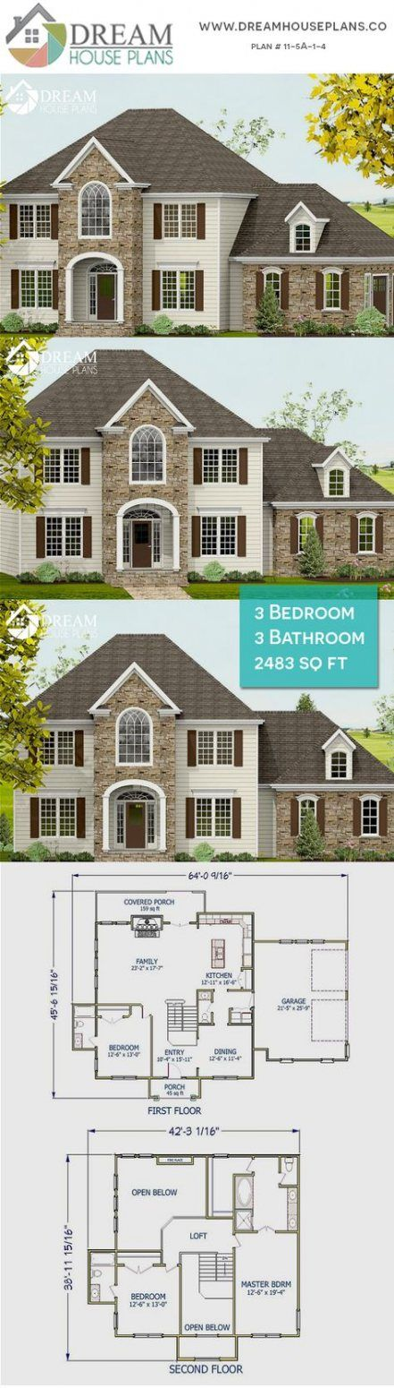 House plans with wrap around porch open floor dream homes