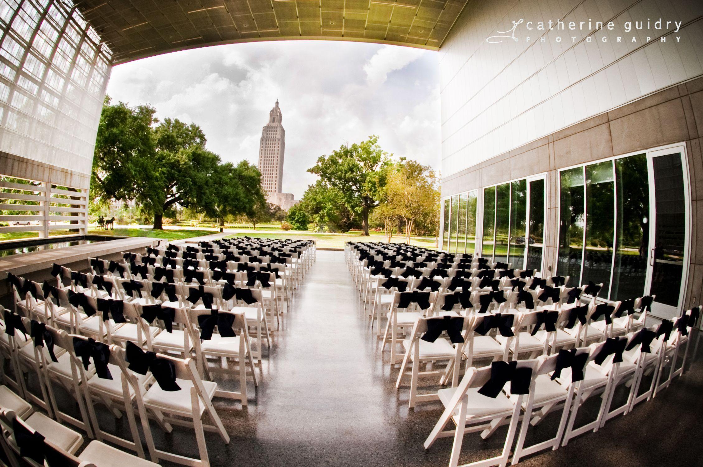wedding setup at capitol park museum in baton rouge la