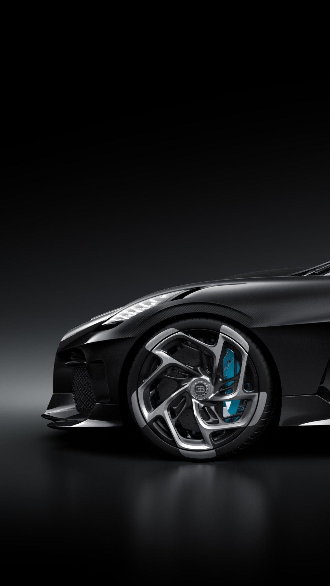 Bugatti La Voiture Noire Side View Mobile Wallpaper (iPhone, Android, Samsung, Pixel, Xiaomi) in ...