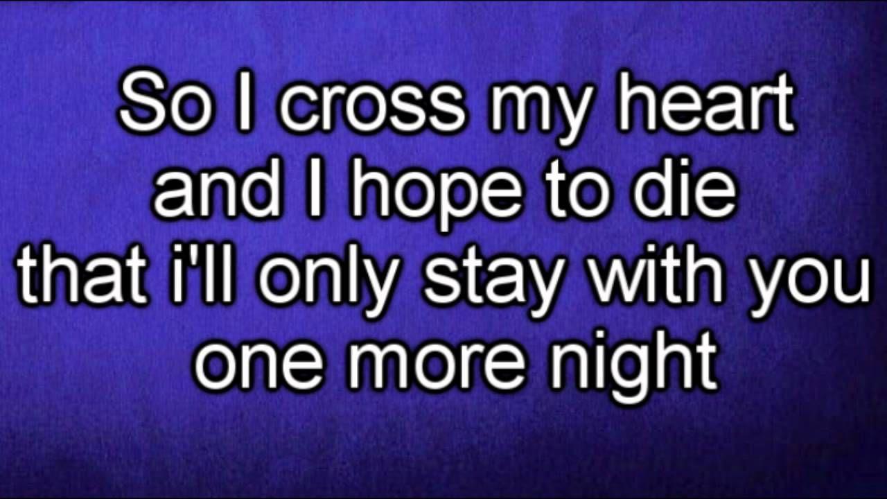 Maroon 5 One More Night Lyrics Love This Song Nights Lyrics One More Night Lyrics