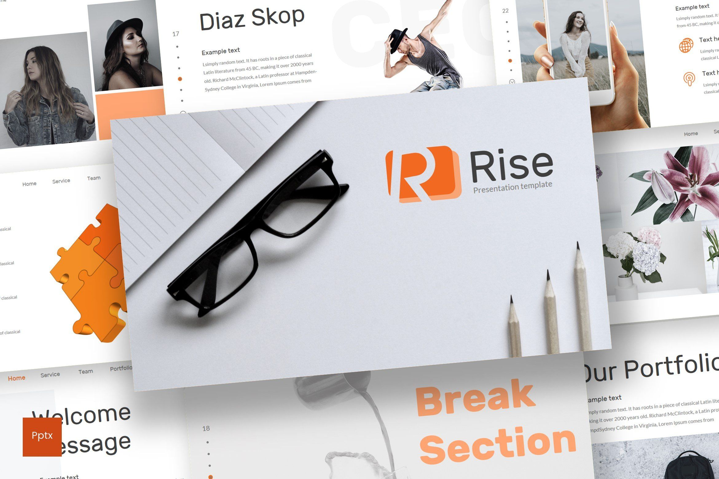 Rise Powerpoint Template By Inspirasign On Creativemarket