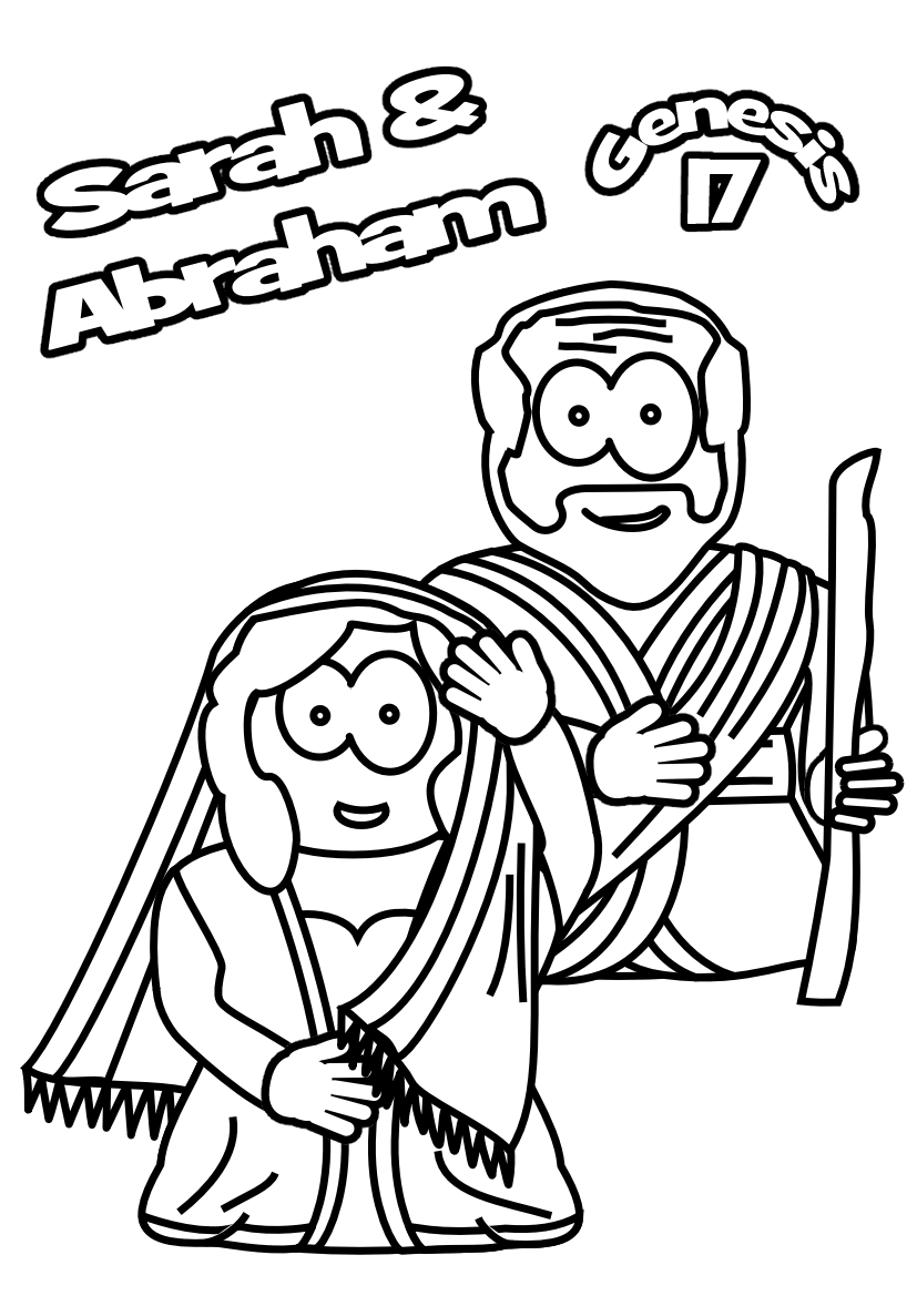 God Calls Abraham Coloring Page Free And Sarah Pages