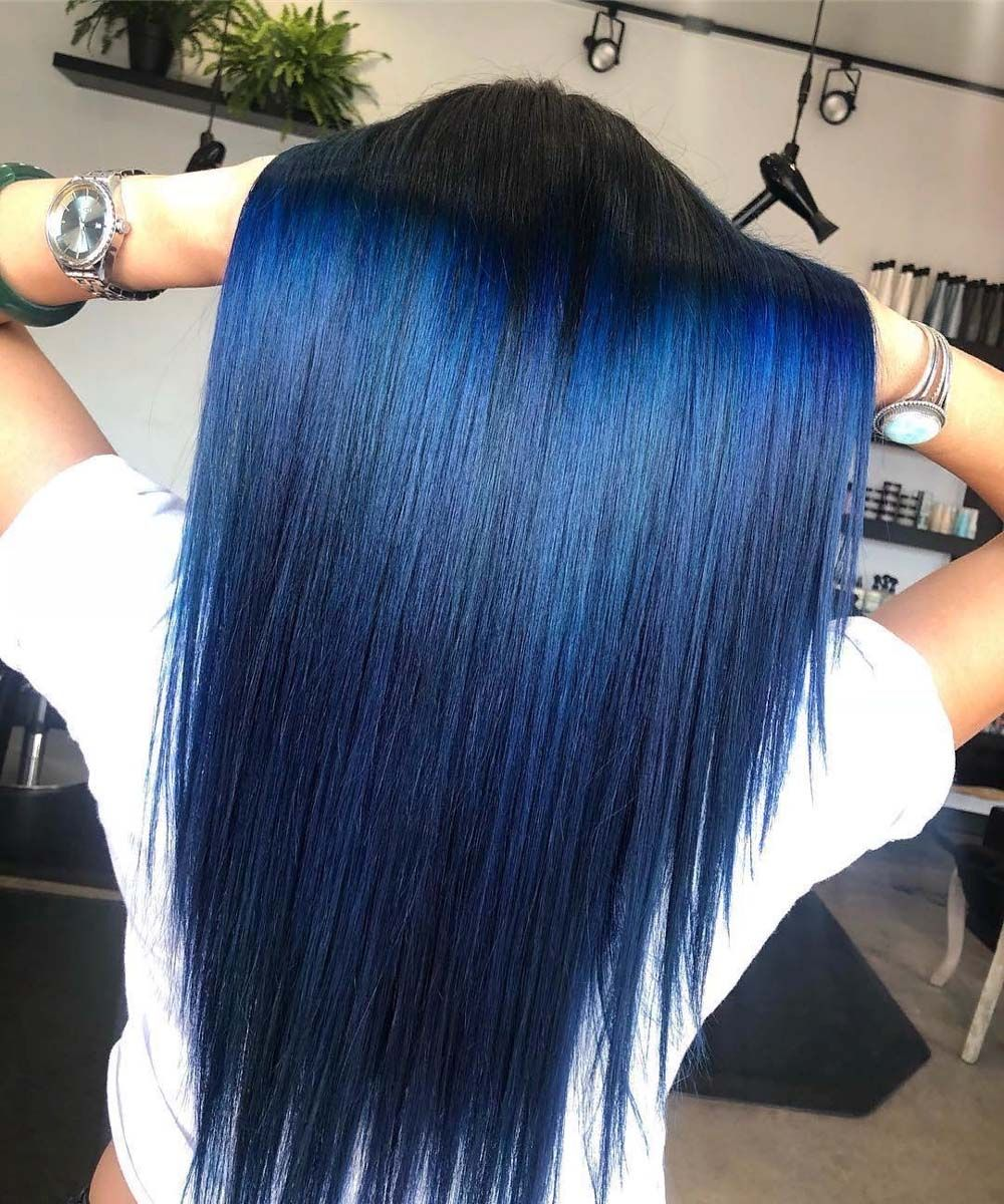 Bold and Beautiful Blue Ombre Hair Color Idea of 2019  709b411b85a5