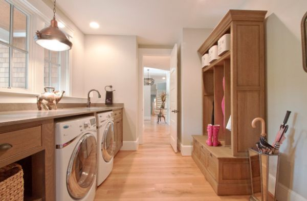 Waschküche Einrichten waschküche einrichten holzmöbel und boden waschküche