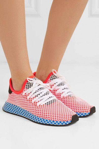 adidas Originals | Deerupt Runner suede trimmed mesh