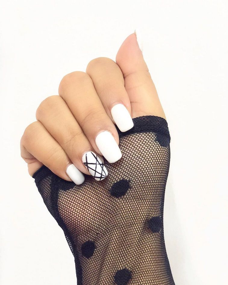 Attractive Geometric Nail Art Design to Rock for Any Occasion