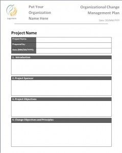 Change Management Plan Template  New Az Templates