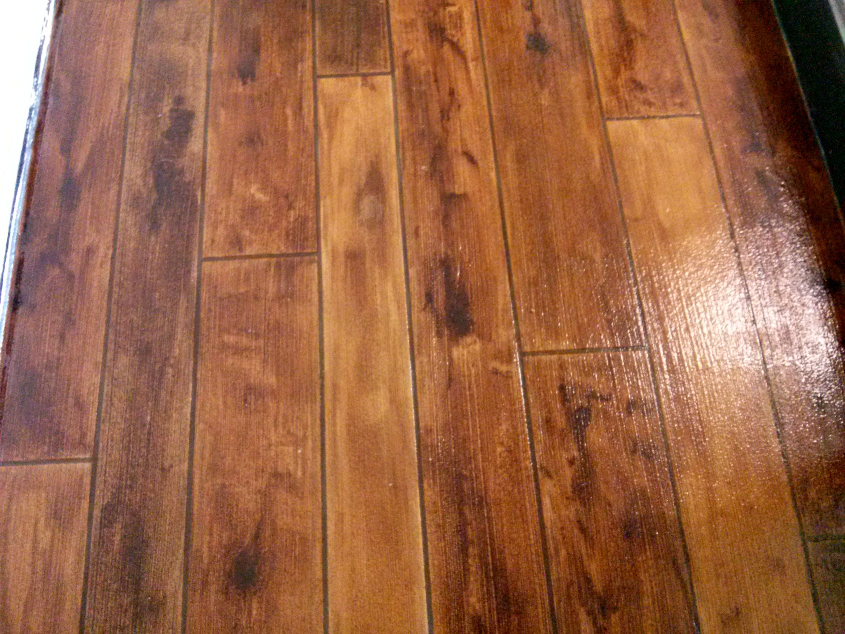 Rustic Concrete Stamped To Look Like Wood High Demand