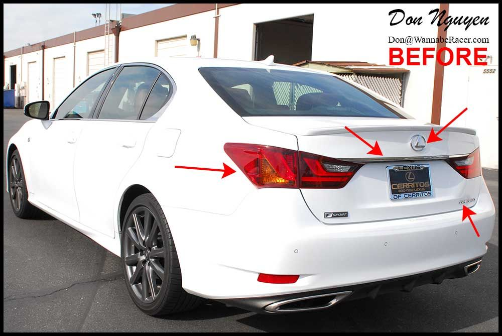Lexus GS350 F Sport Sedan Tinted tail lights, plasti