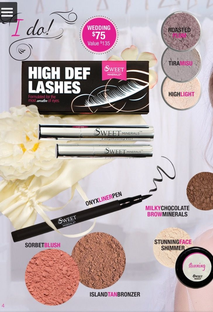 The wedding package!!! Sweet Minerals Makeup
