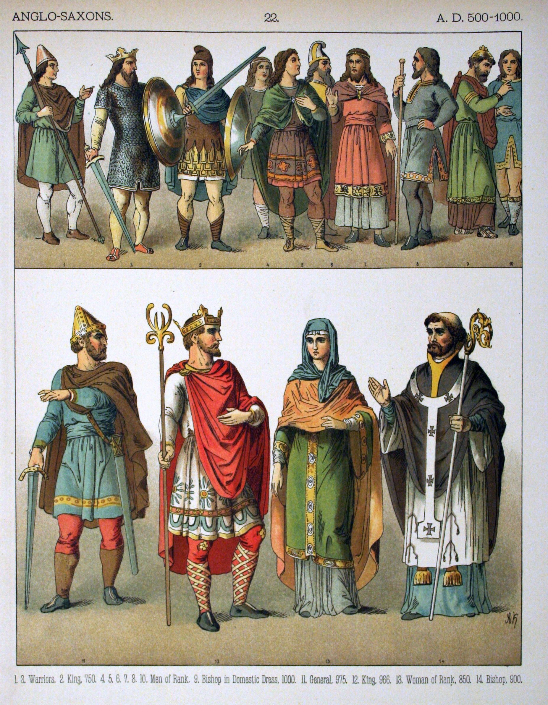 Fashion History - Clothing of the Early Middle Ages - Dark Ages ...